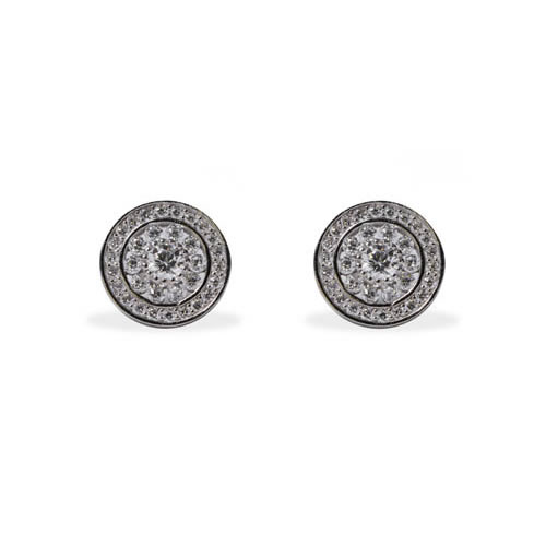 Orla Earring rhodium plated silver and white zirconia. Antiallergic.
